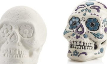 Sugar Skulls Coin Bank Painting for Kids