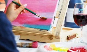 TuesdaysTogether: Paint + Wine